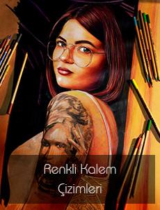 Renkli Kalem Portre Çalışmaları