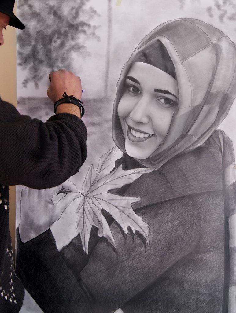 karakalem portre istanbul ankara çizim sevgili hediye fiyat listesi 36