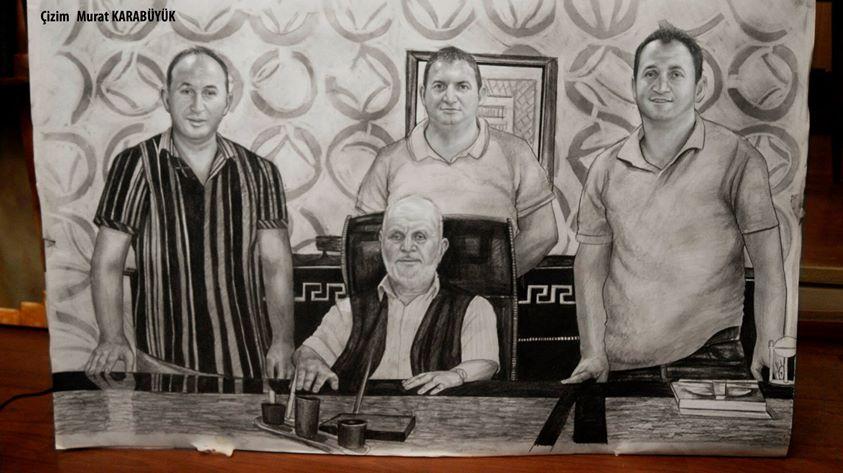 karakalem portre istanbul ankara çizim sevgili hediye fiyat listesi 115
