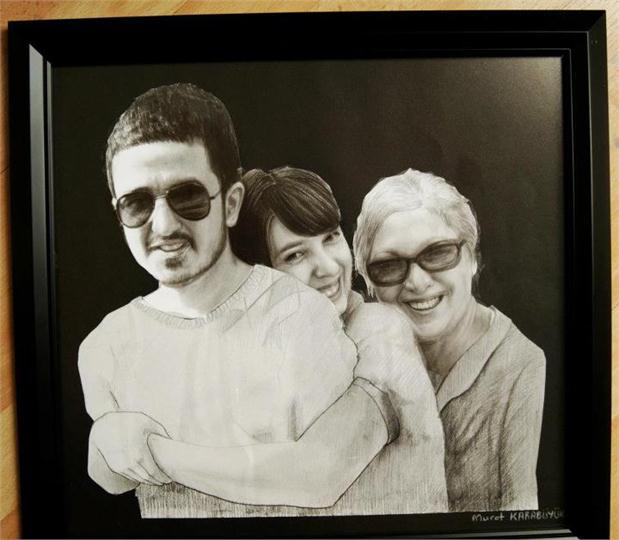 karakalem portre istanbul ankara çizim sevgili hediye fiyat listesi 55