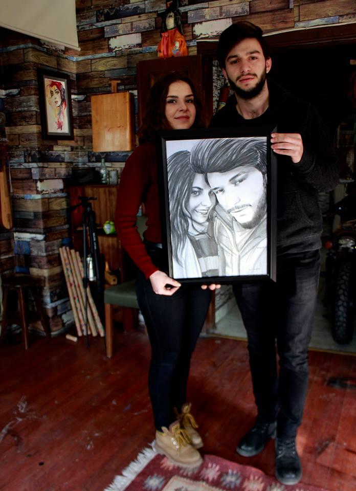 karakalem portre istanbul ankara çizim sevgili hediye fiyat listesi 119