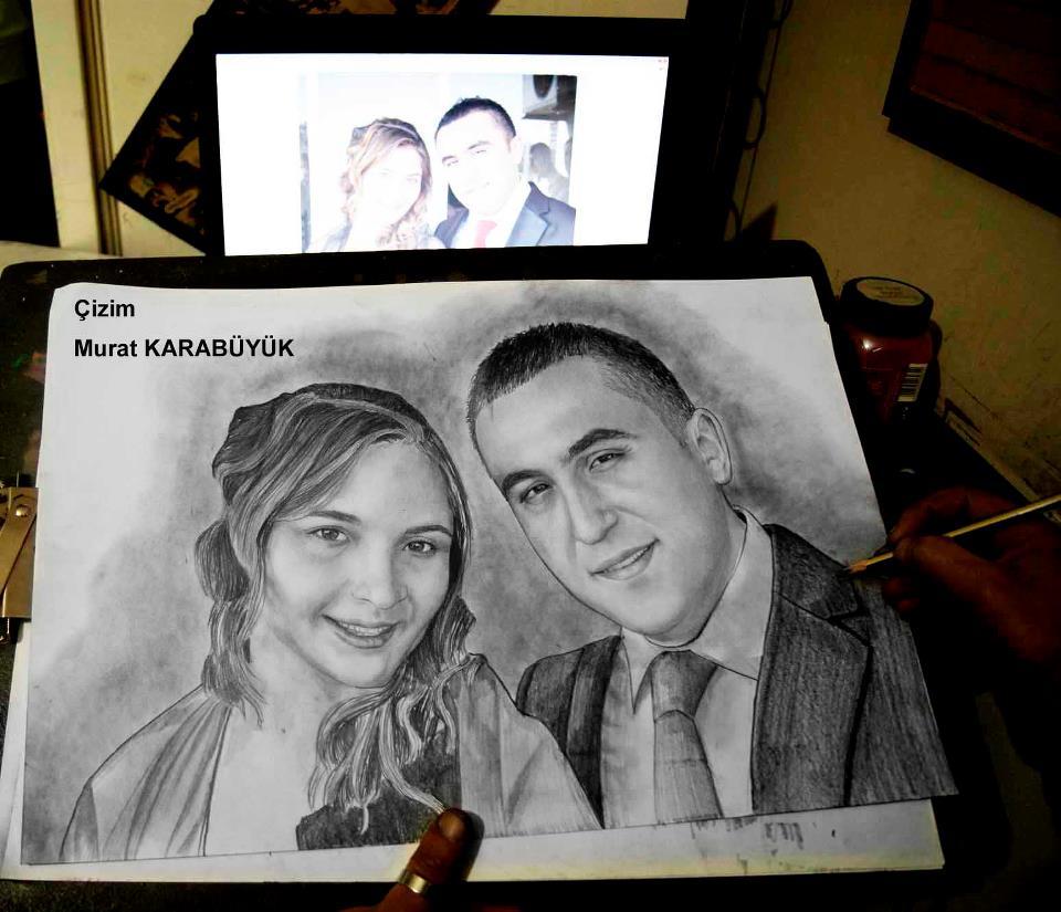 karakalem portre istanbul ankara çizim sevgili hediye fiyat listesi 144
