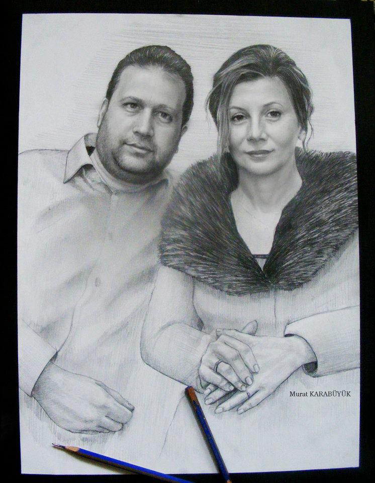 karakalem portre istanbul ankara çizim sevgili hediye fiyat listesi 154