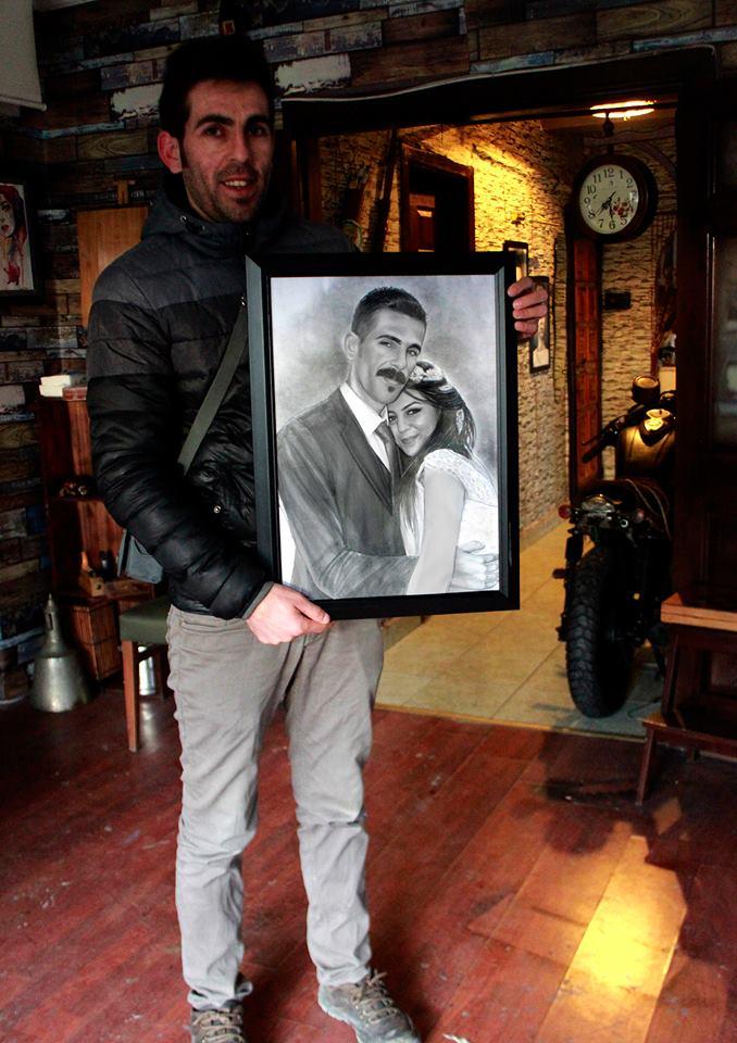 karakalem portre istanbul ankara çizim sevgili hediye fiyat listesi 161