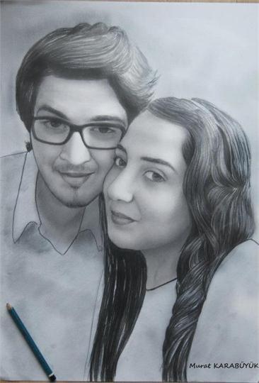 karakalem portre istanbul ankara çizim sevgili hediye fiyat listesi 34