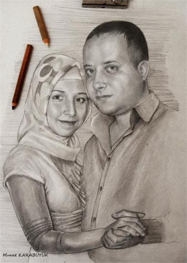 karakalem portre istanbul ankara çizim sevgili hediye fiyat listesi 41