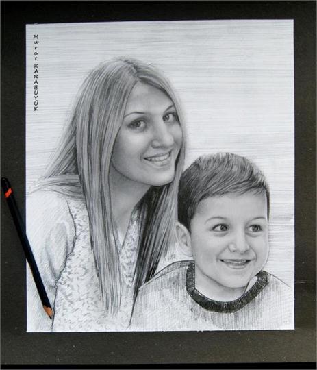karakalem portre istanbul ankara çizim sevgili hediye fiyat listesi 52