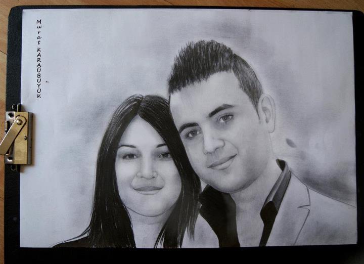 karakalem portre istanbul ankara çizim sevgili hediye fiyat listesi 53