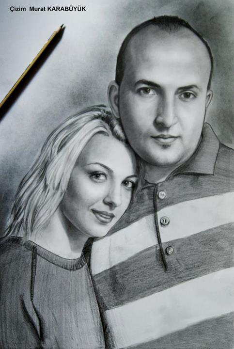 karakalem portre istanbul ankara çizim sevgili hediye fiyat listesi 58
