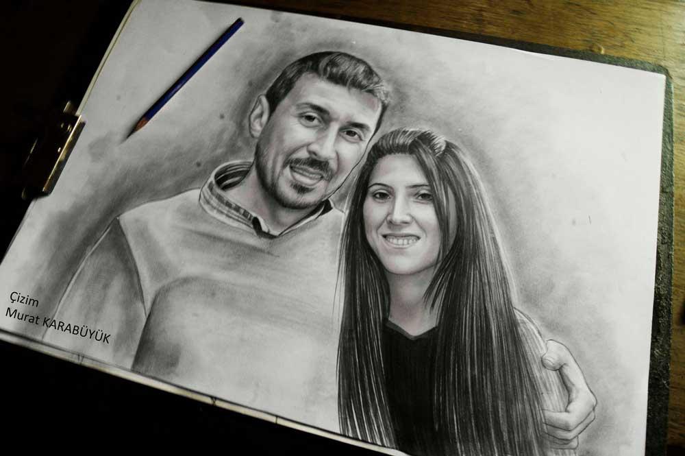 karakalem portre istanbul ankara çizim sevgili hediye fiyat listesi 74
