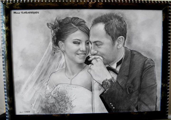 karakalem portre istanbul ankara çizim sevgili hediye fiyat listesi 71