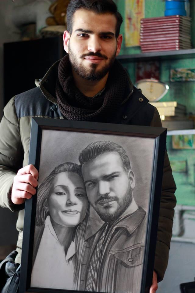 karakalem portre istanbul ankara çizim sevgili hediye fiyat listesi 94