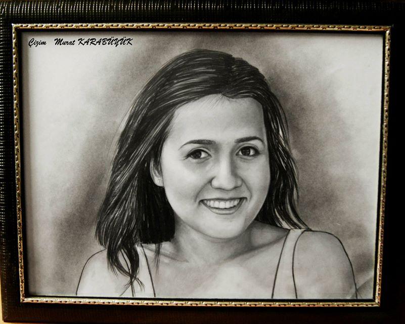 karakalem portre istanbul ankara çizim sevgili hediye fiyat listesi 123
