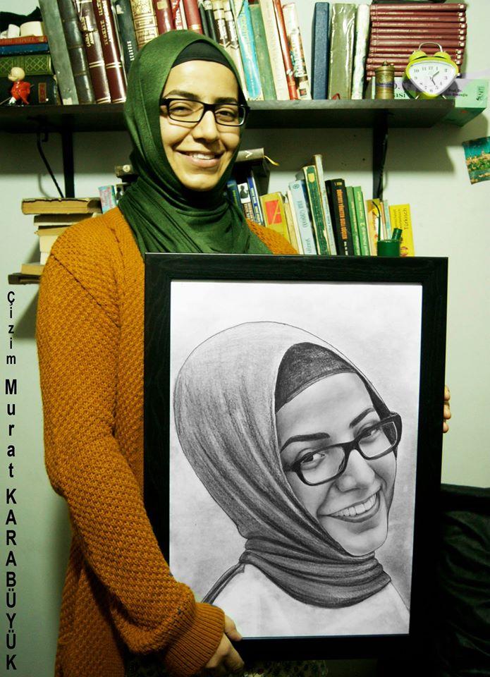 karakalem portre istanbul ankara çizim sevgili hediye fiyat listesi 167