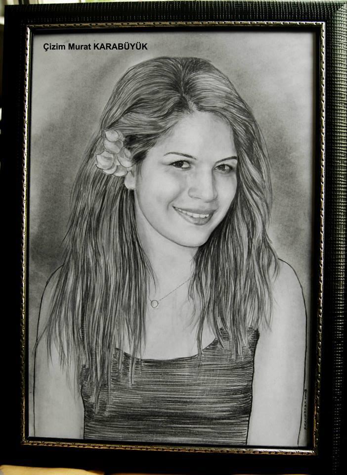 karakalem portre istanbul ankara çizim sevgili hediye fiyat listesi 163