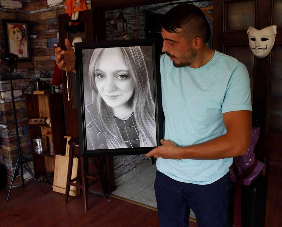 karakalem portre istanbul ankara çizim sevgili hediye fiyat listesi 125