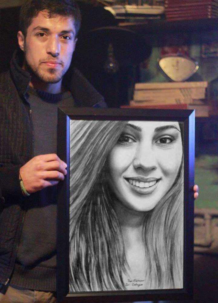 karakalem portre istanbul ankara çizim sevgili hediye fiyat listesi 83