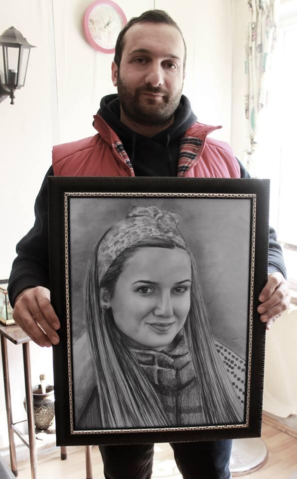 karakalem portre istanbul ankara çizim sevgili hediye fiyat listesi 113