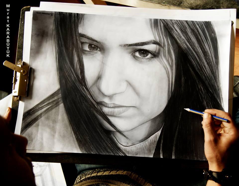 karakalem portre istanbul ankara çizim sevgili hediye fiyat listesi 127