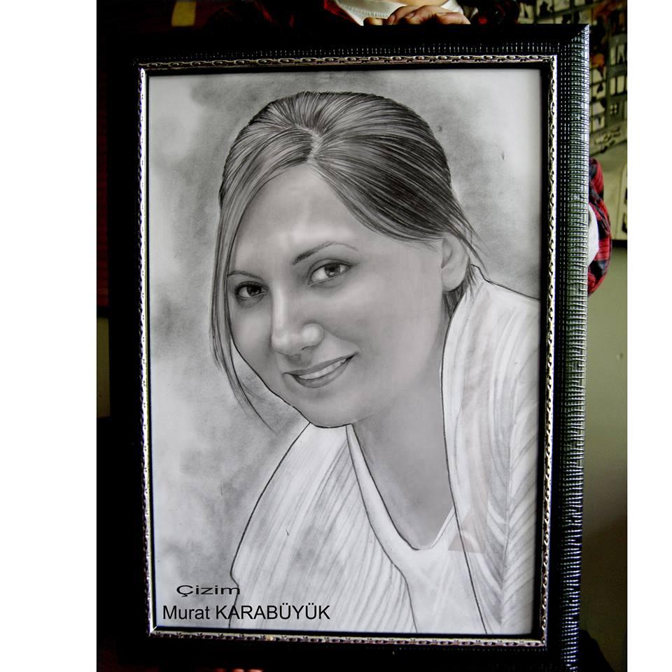karakalem portre istanbul ankara çizim sevgili hediye fiyat listesi 158