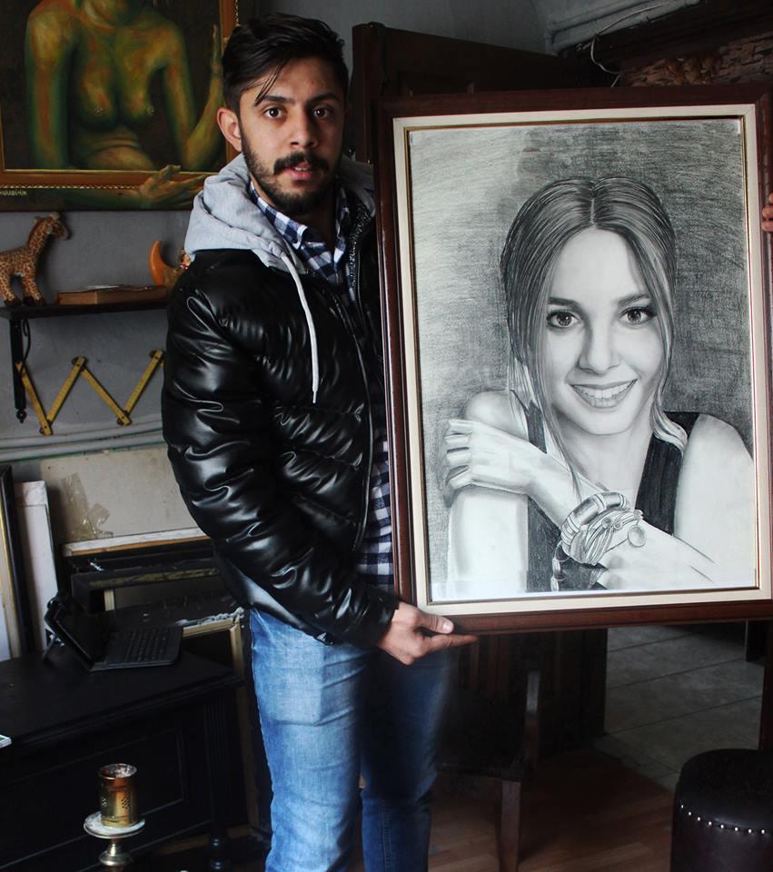 karakalem portre istanbul ankara çizim sevgili hediye fiyat listesi 164