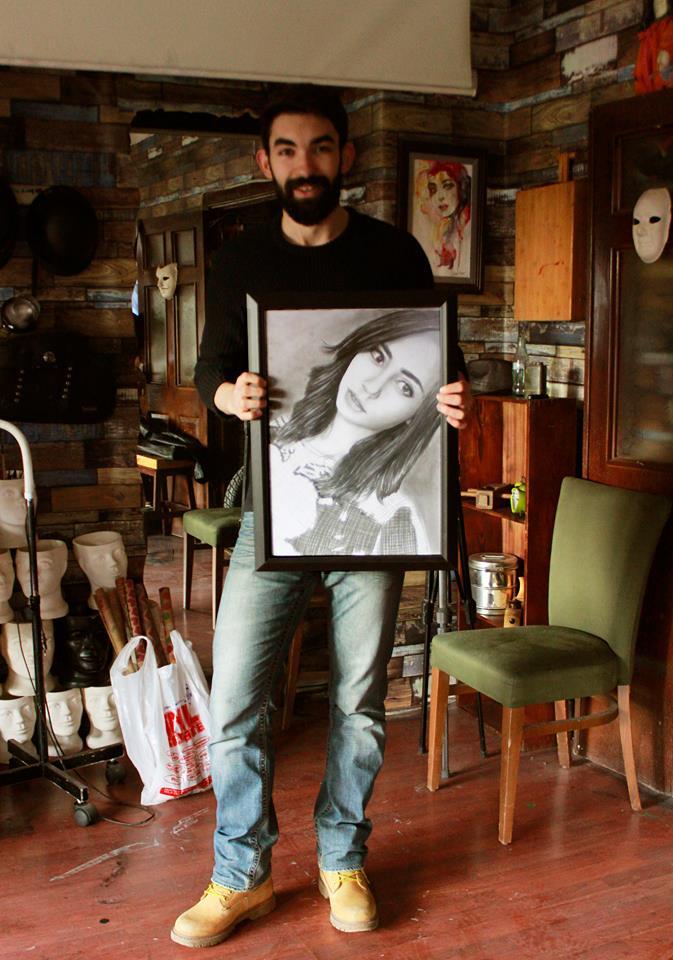 karakalem portre istanbul ankara çizim sevgili hediye fiyat listesi 155