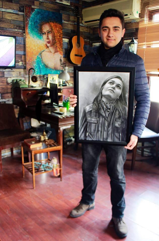 karakalem portre istanbul ankara çizim sevgili hediye fiyat listesi 126