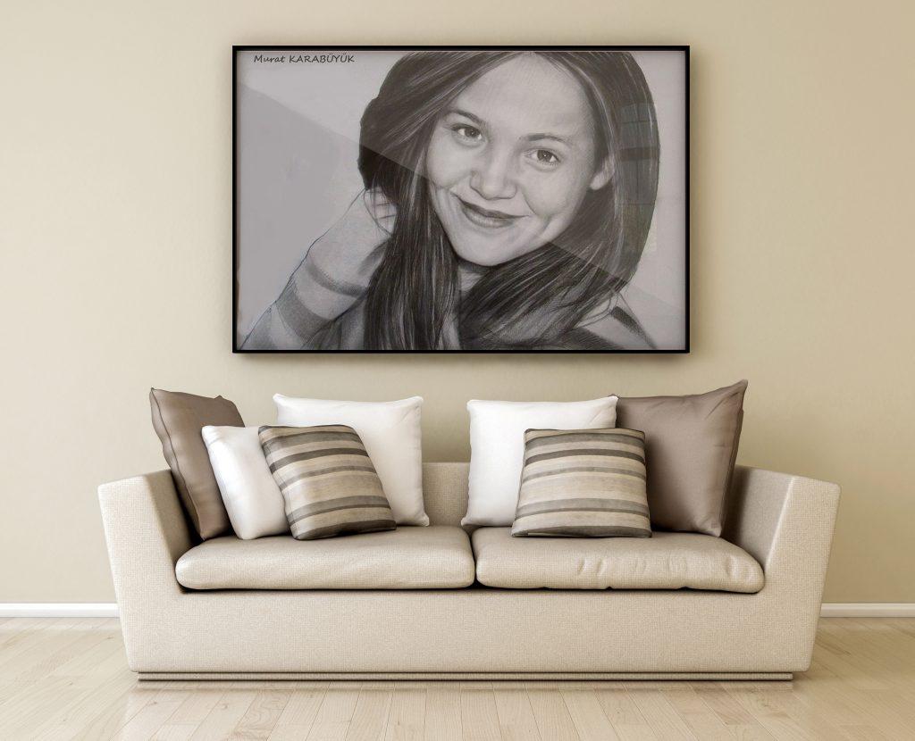 karakalem portre istanbul ankara çizim sevgili hediye fiyat listesi 7