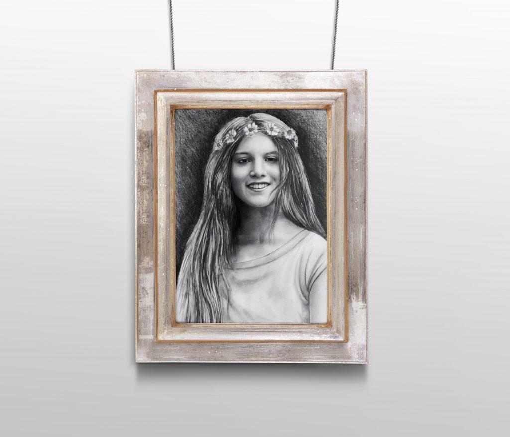 karakalem portre istanbul ankara çizim sevgili hediye fiyat listesi 6