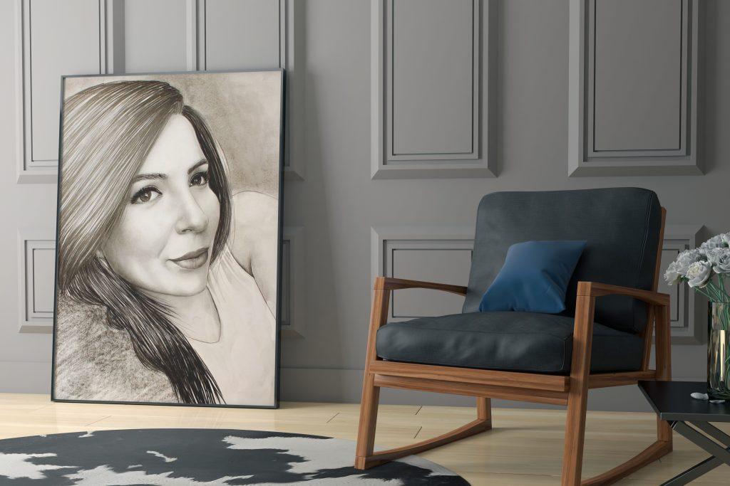 karakalem portre istanbul ankara çizim sevgili hediye fiyat listesi 5