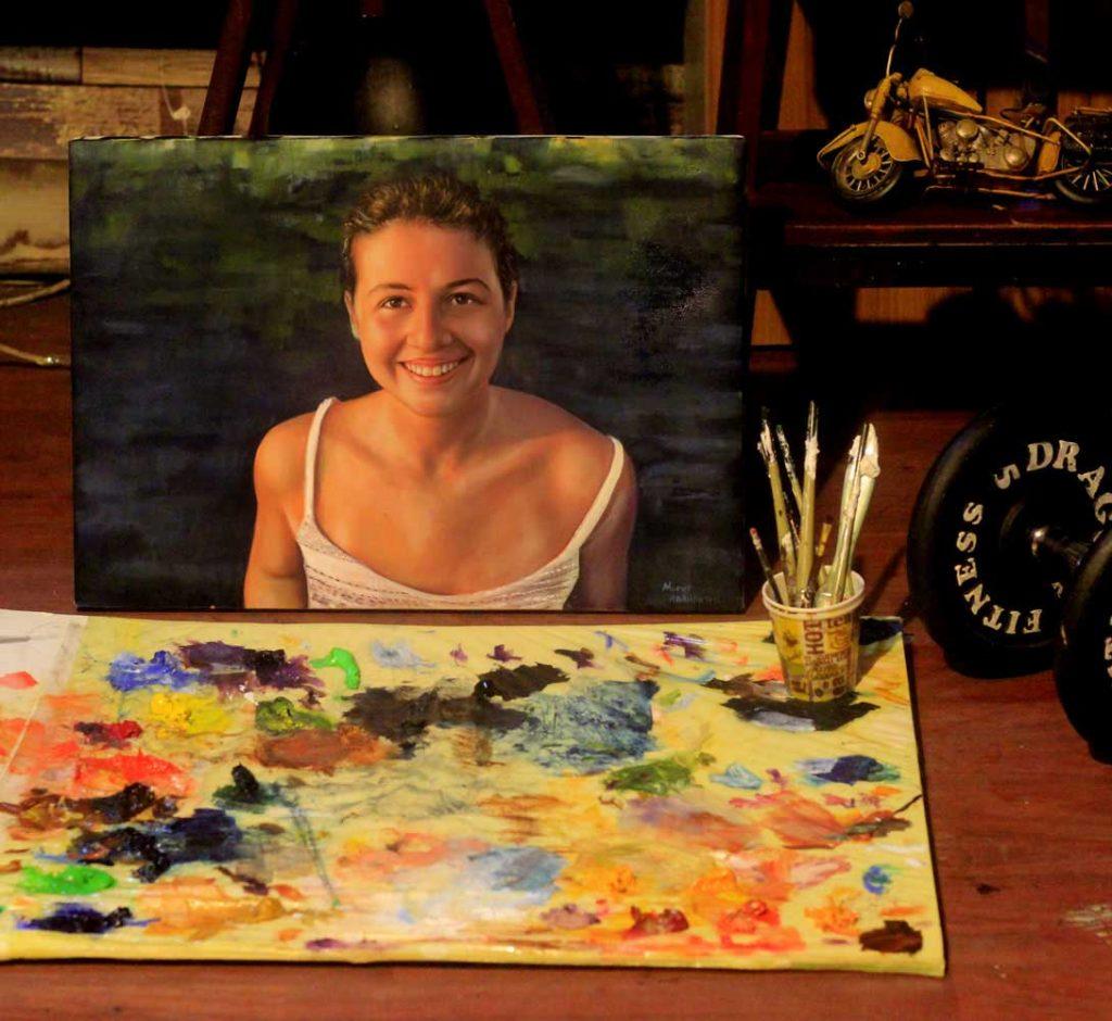 yağlıboya portre karakalem ankara sipariş kızılay sanat resim 12