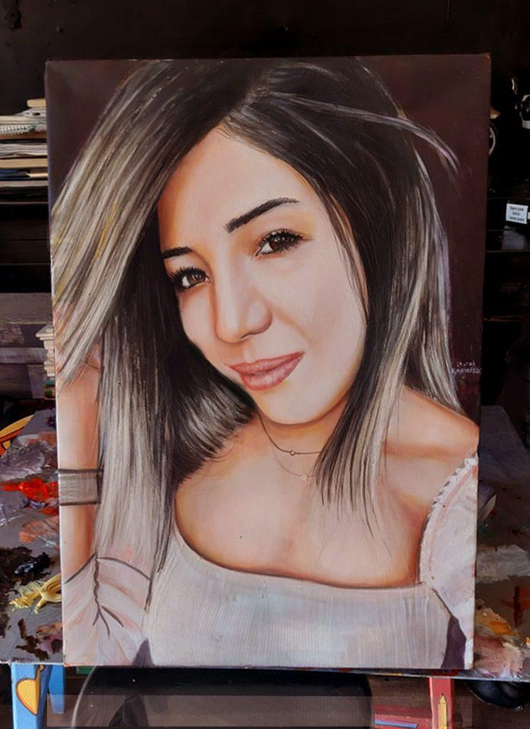 yağlıboya portre çalışması ankara fiyat karakalem sanat 23