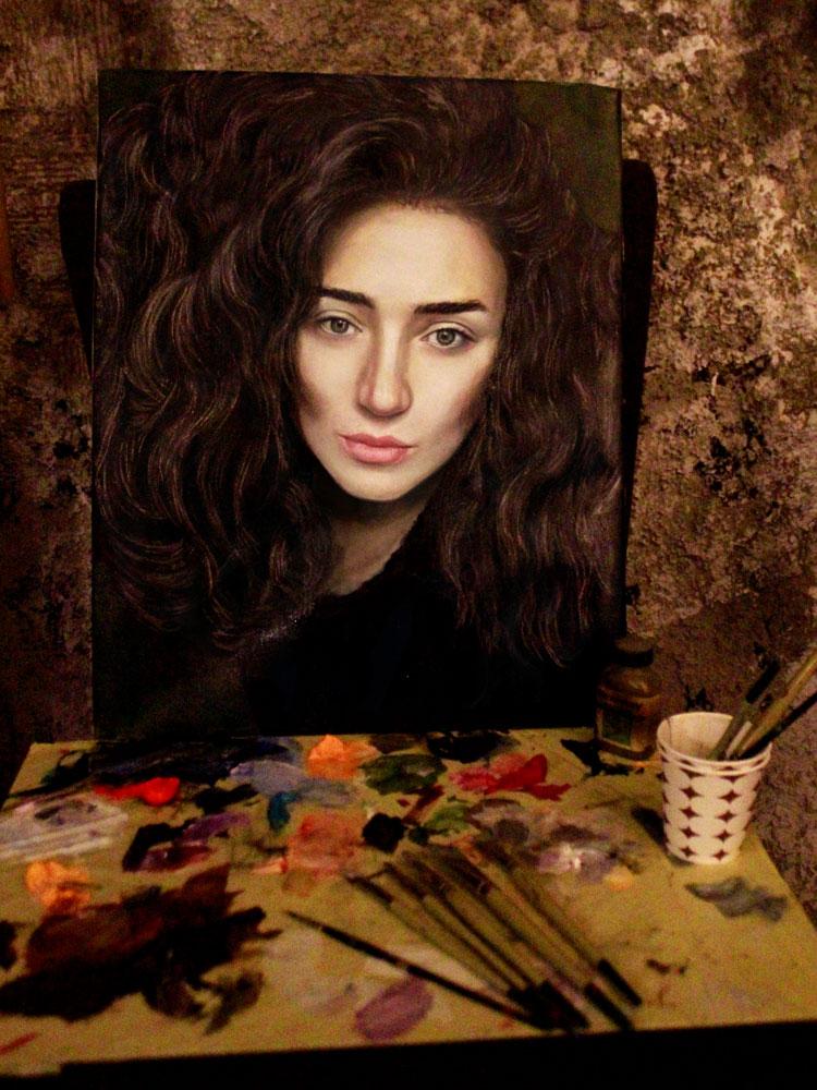 yağlıboya portre karakalem ankara sipariş kızılay sanat resim 8