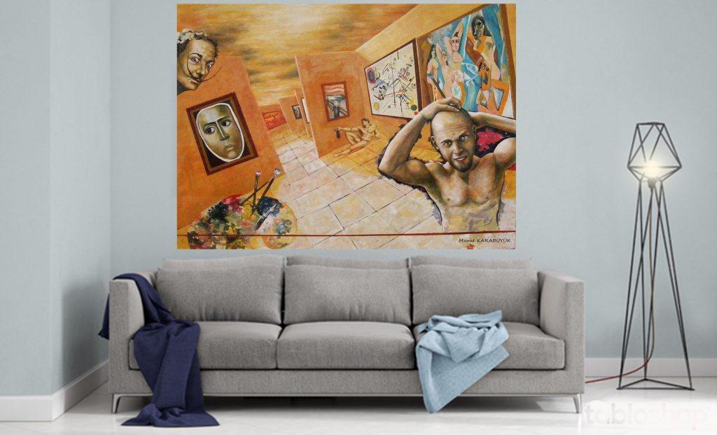 yağlıboya portre çalışması ankara fiyat karakalem sanat 8