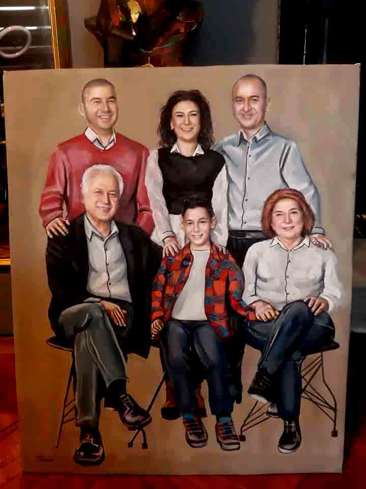 yağlıboya portre çalışması ankara fiyat karakalem sanat 15