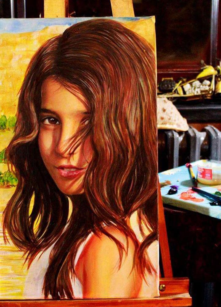 yağlıboya portre karakalem ankara sipariş kızılay sanat resim 5