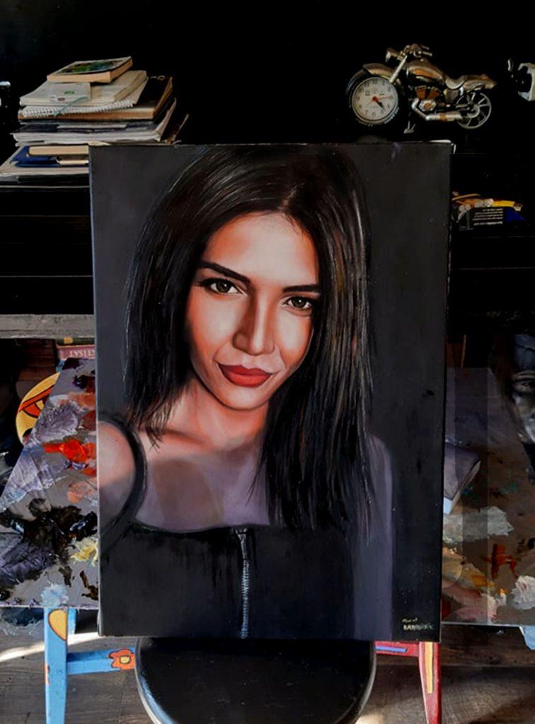 yağlıboya portre çalışması ankara fiyat karakalem sanat 22