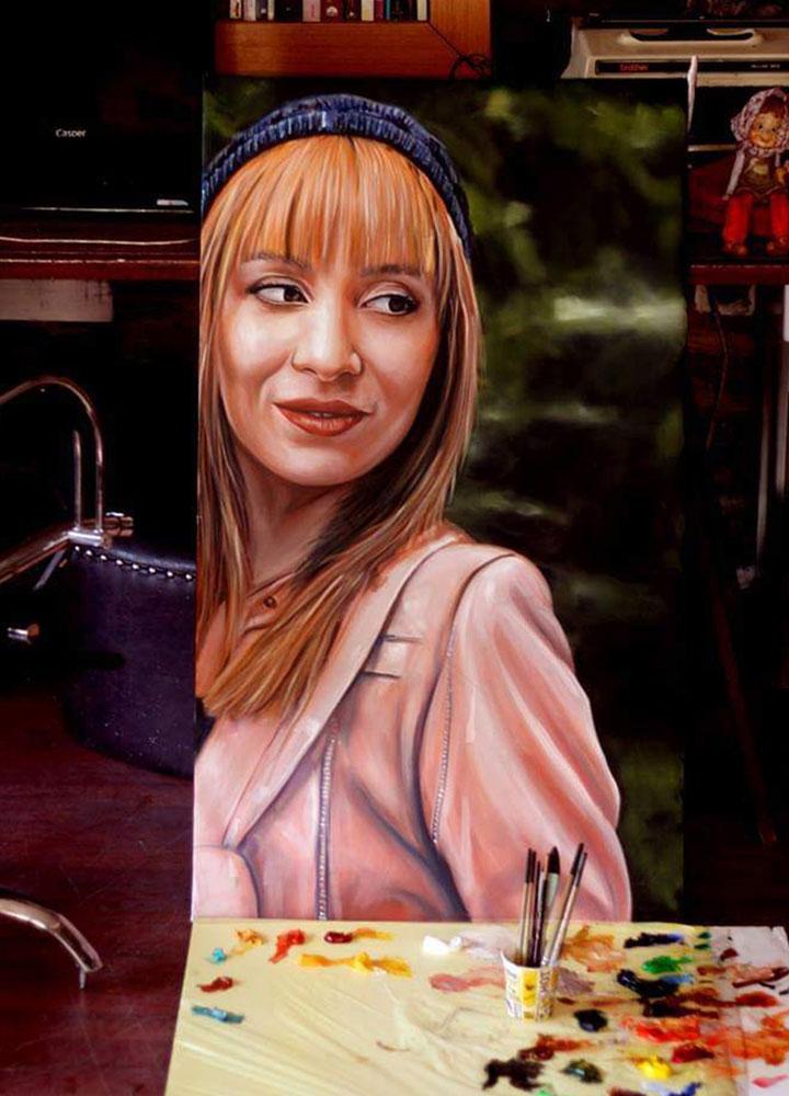 yağlıboya portre ankara sipariş kızılay sanat resim 1