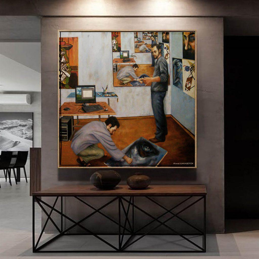 yağlıboya portre çalışması ankara fiyat karakalem sanat 7