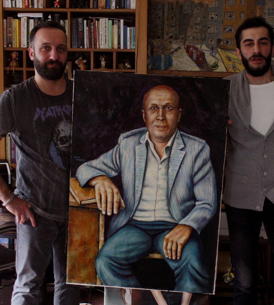 yağlıboya portre karakalem ankara sipariş kızılay sanat resim 27