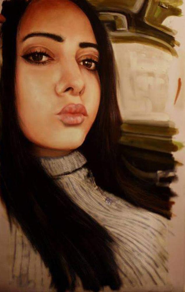 yağlıboya portre karakalem ankara sipariş kızılay sanat resim 25
