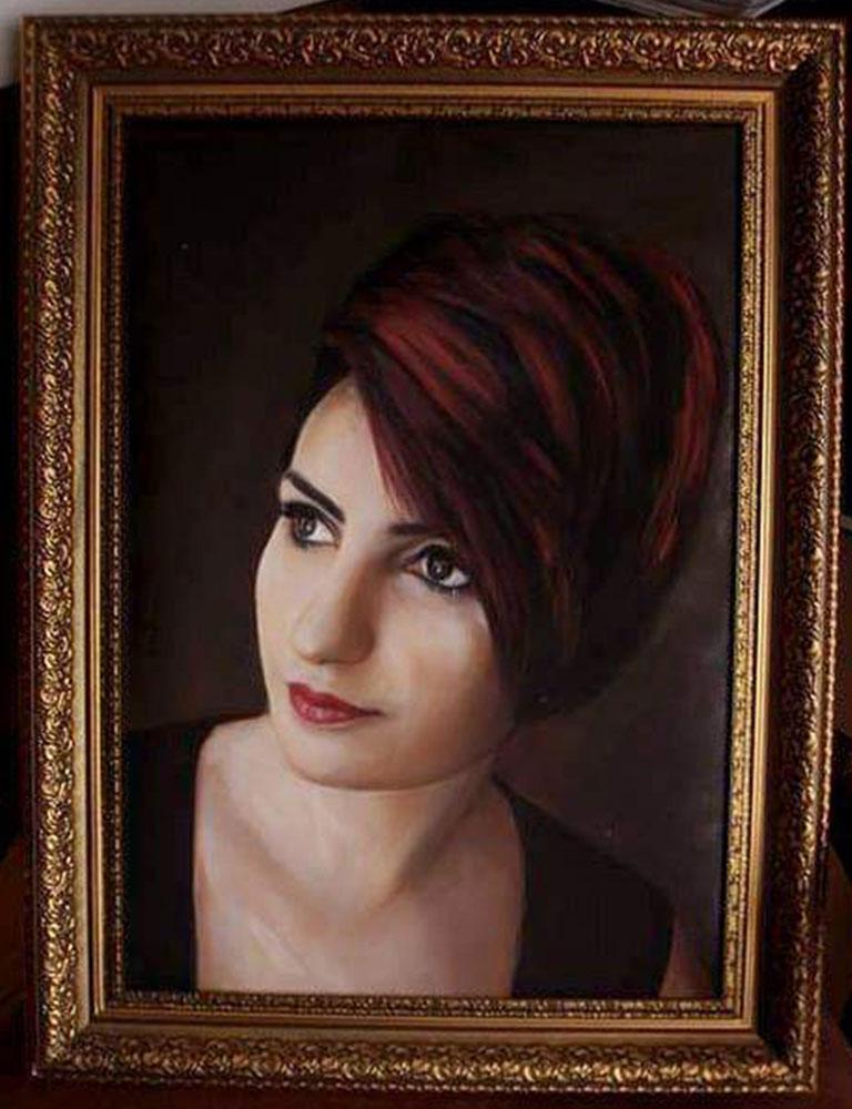 yağlıboya portre karakalem ankara sipariş kızılay sanat resim 24