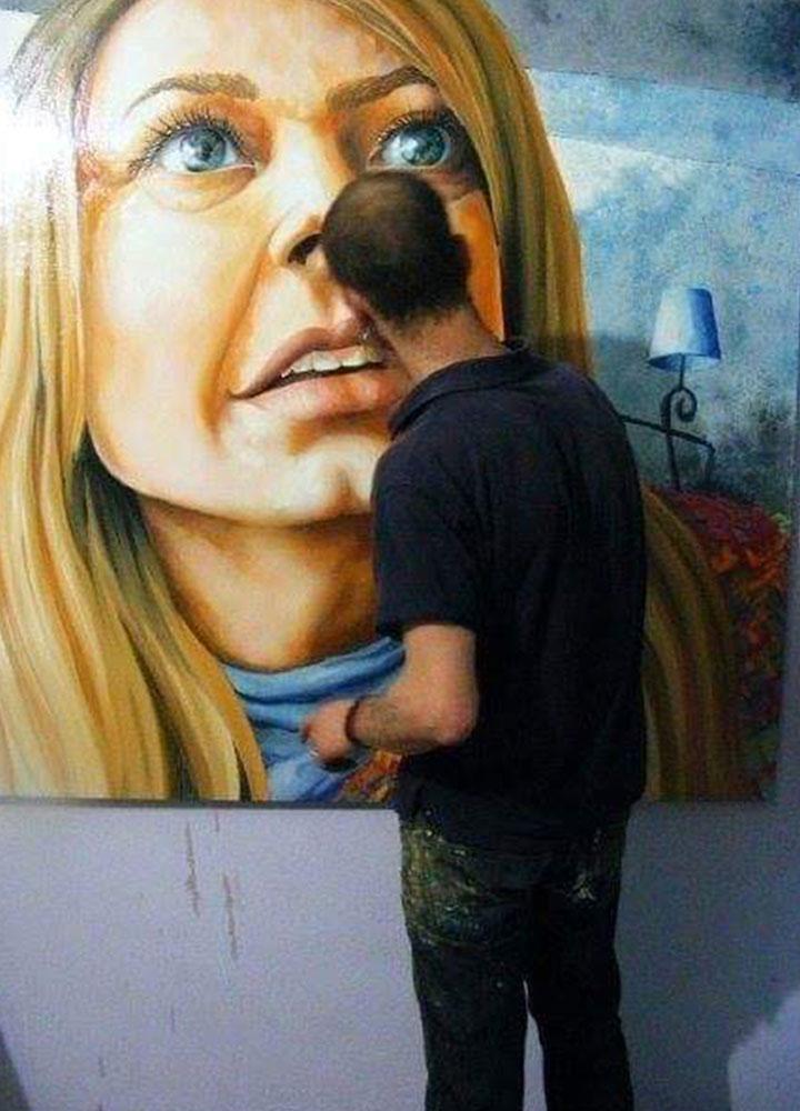 yağlıboya portre karakalem ankara sipariş kızılay sanat resim 23
