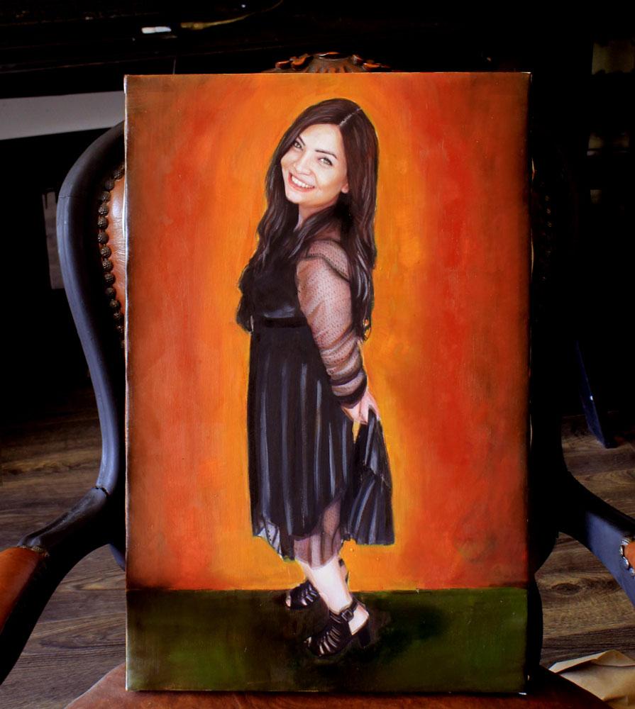 yağlıboya portre karakalem ankara sipariş kızılay sanat resim 21