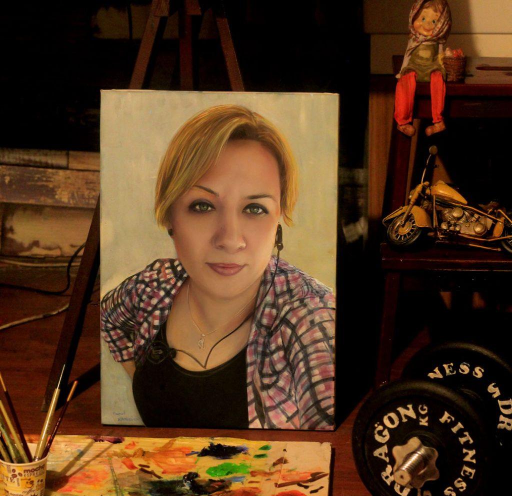 yağlıboya portre karakalem ankara sipariş kızılay sanat resim 19