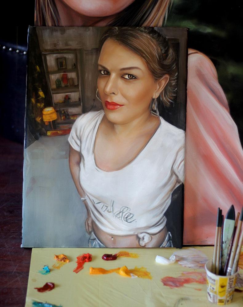 yağlıboya portre karakalem ankara sipariş kızılay sanat resim 18