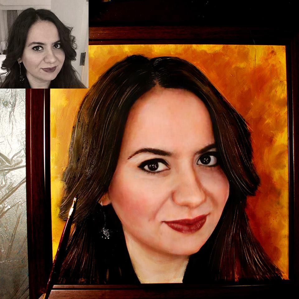 yağlıboya portre karakalem ankara sipariş kızılay sanat resim 16