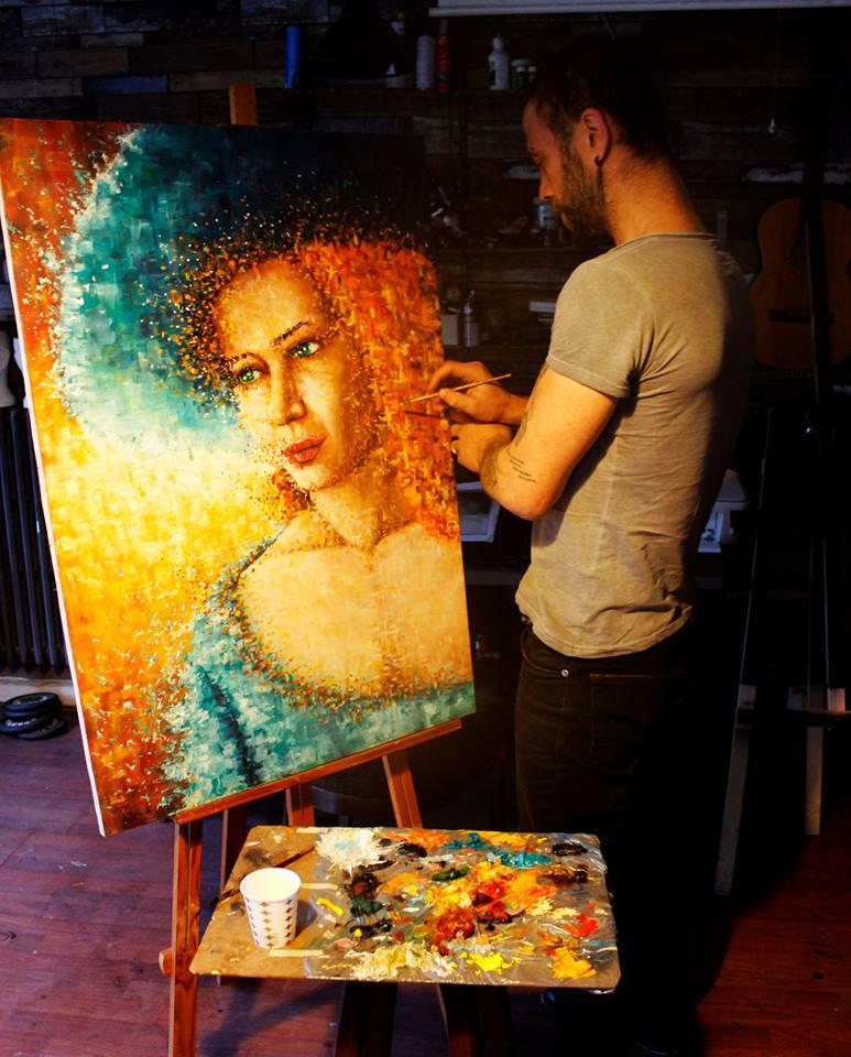 yağlıboya portre karakalem ankara sipariş kızılay sanat resim 15