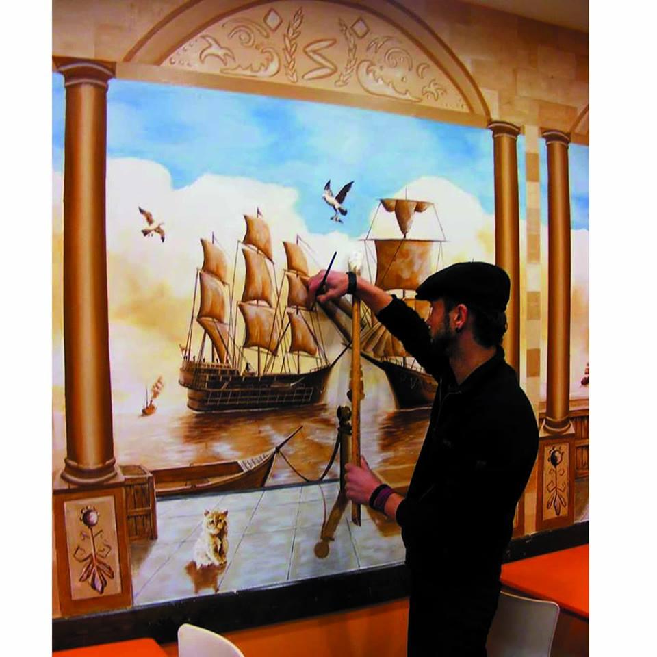 duvar resmi graffiti ankara sanat karakalem portre 35