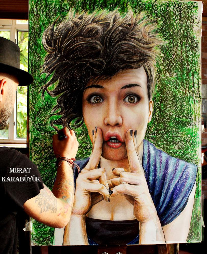 pastel yağlıboya karakalem karikatür portre sipariş fiyat listesi karikatür ankara 37